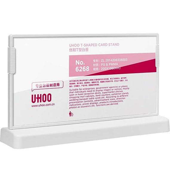 FGDH&SDF Tipo L Acrílico Blanco Transparente Vertical Display Card ...