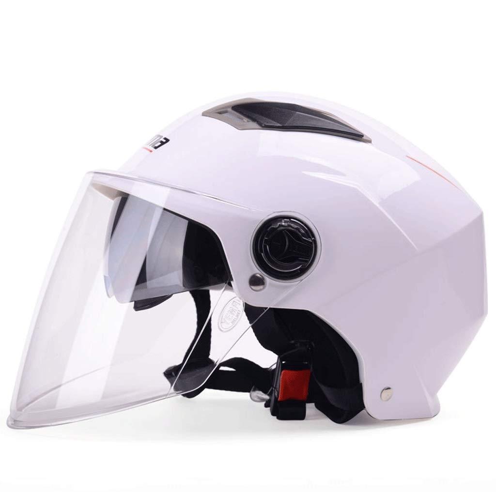 colore : Mascherino nero-23x28cm Casco estivo scooter elettrico per uomo e donna estivo protezione solare leggero doppio casco mezzo coperto ZXW casco