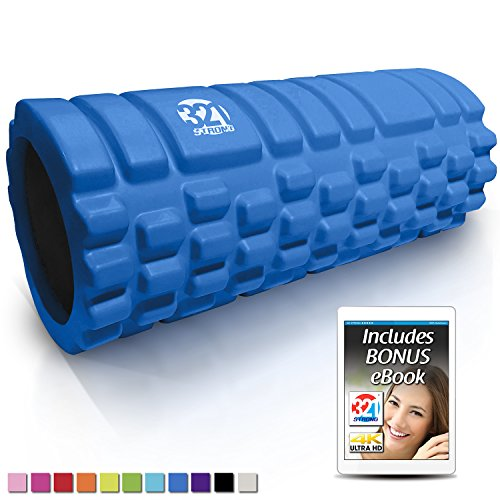 321 STRONG Foam Roller - Medium Density Deep Tissue Massager for Muscle Massage and Myofascial Trigger Point Release, with 4K eBook - ()