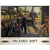 Photographic Print of Poster produced for British Railways (BR), showing a railway worker manually by Media Storehouse