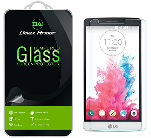 LG G3 Vigor Glass Screen Protector, Dmax Armor [Tempered Glass] 0.3mm 9H Hardness, Anti-Scratch, Anti-Fingerprint, Bubble Free, Ultra-clear (Lg G3 Vigor Phone Accessories compare prices)