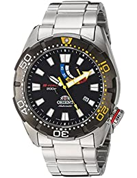 Men's 'M-Force Bravo' Japanese Automatic Stainless Steel Diving Watch, Color:Silver-Toned (Model: SEL0A001B0)
