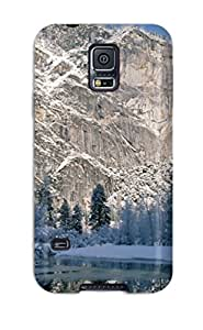 New Arrival Cover Case With Nice Design For Galaxy S5- Attractive Forest Cliffs Yosemite