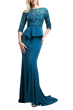 La Mariee Classic Sheath Lace Mother Of The Bride Dresses Evening Prom Dress -2-