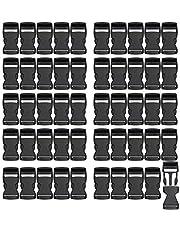 RETON Hebillas Ajustables Negras Hebillas Laterales de Plástico