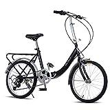 Gracelove 20-Inch 7 speed Loop Folding Bike for commuting, school