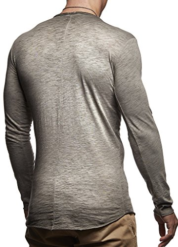 Sweatshirt Rond Ln6302 Longue Grau Hoody Sweater Pour Hoodie Hommes Oversize Col Nelson Verwaschen Longsleeve Leif Basic Des Pullover Shirt Manche wv0qcT7