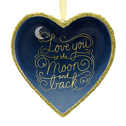 Ornament Love (Hallmark Porcelain Signature Premium Love You to The Moon and Back Christmas Ornament,)