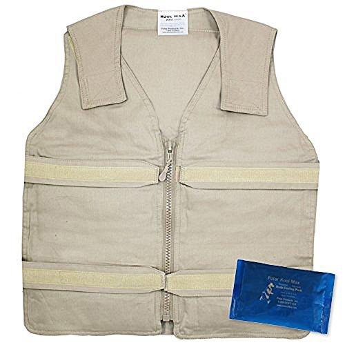 Kool Vest (Lightweight Kool Max? Zipper Front Vest (2XL/3XL, Khaki) by Kool Max?)