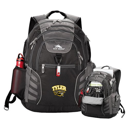 Tyler Junior College High Sierra Big Wig Black Compu Backpack 'Official Logo' by CollegeFanGear