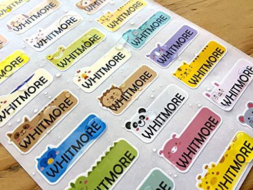 81 Cute Animal Waterproof Name Sticker Labels from Han Printing