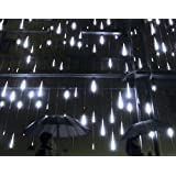 YSIM Meteor Shower Rain Lights,Ultra Bright Romantic Lights for Party, Wedding, Christmas, etc.11.8inch 8 Tubes(White)