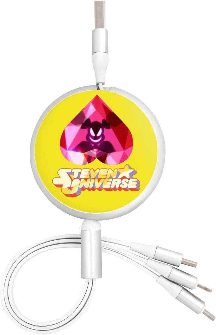 Pc Surface Aluminum Alloy Shell N//C Steven Universe Anime Round Three-in-One Charging Cable TPE Cable