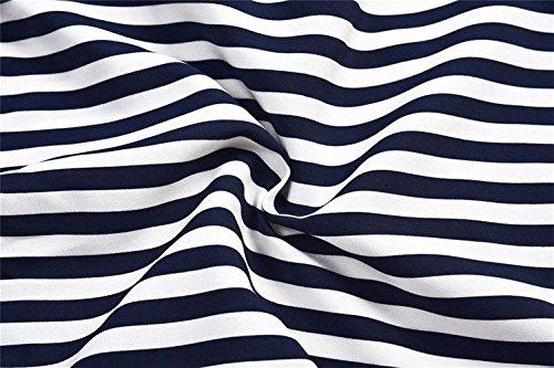 Stripe Estivi Casuale Rinalay Baggychic Formale Pantaloni Blau Pantaloni 7 Pantaloni Coulisse 8 Elastico Con Moda Festa Pants Larghi Lunga Donna ET0qSwT