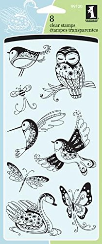 Inkadinkado Clear Stamps Patterned Birds and Bugs