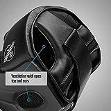 Hayabusa T3 Adjustable Boxing Headgear - Black, One