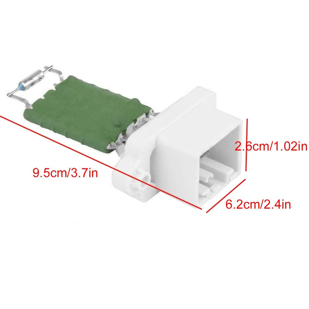 Replaces OE# 1206927 1253185 3M5H-18B647-AB 2S6H-18B647-AC Yh-eu 3M5H-18B647-AC 1325972 Heater Motor Fan Blower Resistor Replacement For Ford Fiesta MK5 MK6 Focus MK2 /& More