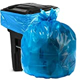 Aluf Plastics 55 Gallon Blue Trash bags for Rubbermaid Brute - Pack of 100 - Garbage or Recycling bags 55' by 38'  1.2 (equivalent) MIL - For Industrial, Home, Contractor