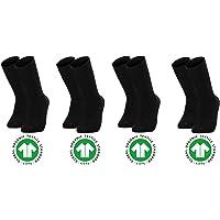Bolero Socks Premium BIO COTTON Collection Erkek %100 Organik Pamuklu Siyah Çorap (4 Çift)