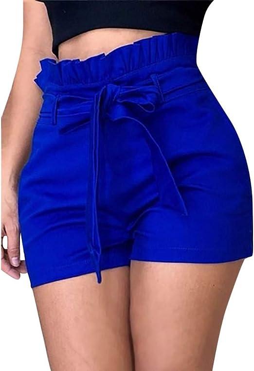 Sunyastor Womens Frayed Ripped Short Jeans Summer High Rise Pants Raw Hem Denim Jean Shorts High Waisted Shorts