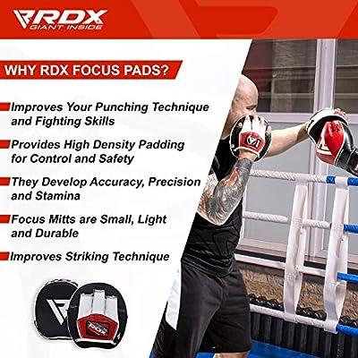 RDX Manoplas Boxeo Paos Muay Thai Kick Boxing Artes Marciales Patada Pad Entrenamiento: Amazon.es: Deportes y aire libre