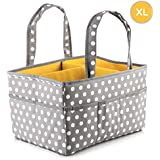 Large Baby Diaper Caddy Organizer: Storage for Diapers...