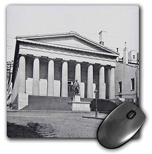 (3dRose Scenes from The Past Magic Lantern Slides - Vintage New York City Treasury Building Circa 1890 - Mousepad (mp_246843_1))