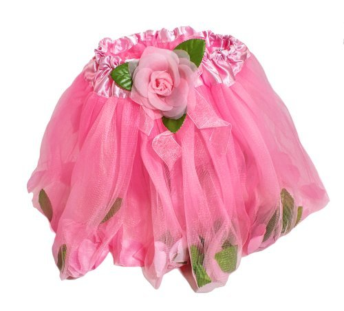 Pink Rose Petal Ballerina Tutu With Floating Petals in (Pink Rose Ballerina Costumes)