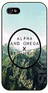 LJF phone case iPhone 5C Bible Verse - Mountaisn: Alpha and Omega. Beginning and end. - black plastic case / Verses, Inspirational and Motivational
