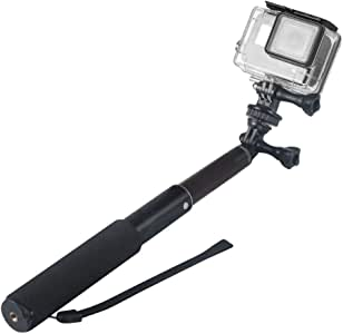 TERSELY Selfie Stick Waterproof Hand Grip Adjustable Pole 30-98cm Extension Handheld Monopod for GoPro HD Hero 8 7 Black White Silver 6 5 Session, AKASO, SJCAM SJ4000 SJ5000 Xiaomi [with Hand Strap]