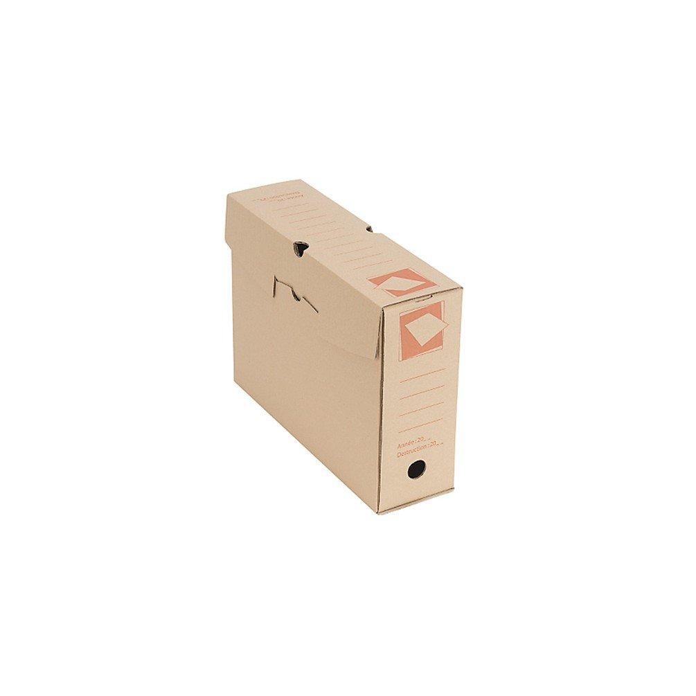 Cenpac - 50 boites d'archives en carton brun de 25 x 33 x 10 cm - 567027x50 - DIAMWOOD