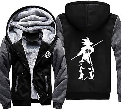 メンズフーディーフルジッパープリントモンキーキングベルベットパッド入りフード付きセーターコートフリースフーディー、冬に適しています