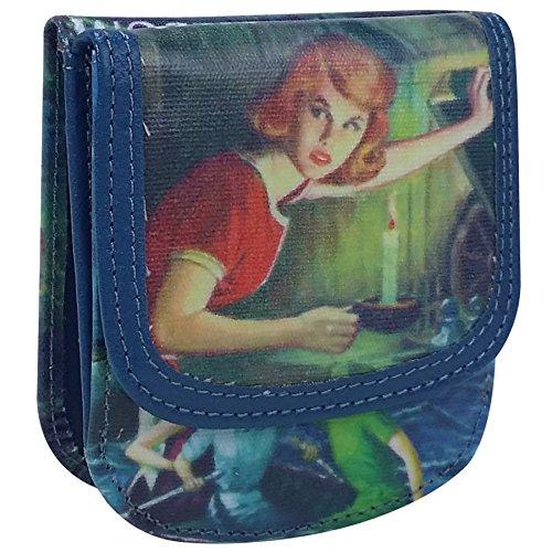 TAXI WALLET Nancy Drew Small Folding VEGAN Minimalist Card Coin Front Pocket Wallet for Men & Women (Wallet Drew Nancy)
