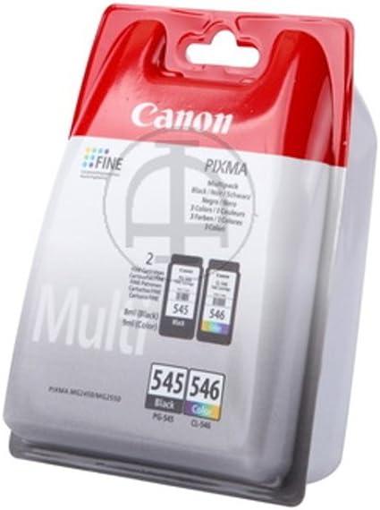 Canon PG-545/CL-546 BK/C/M/Y - Cartucho de tinta, Multipack ...