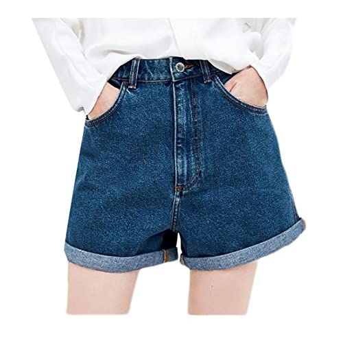 5ee9d3d99f6 Atree Women High Waisted Crimping Hot Pants Summer Loose Fit Vogue Shorts  Jeans chic