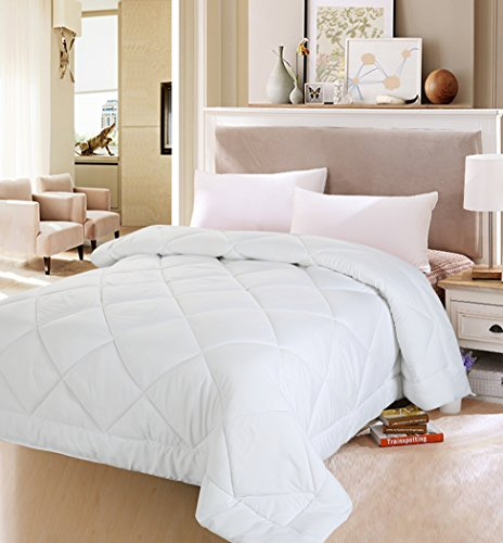 Queen Comforter Duvet Insert White - Quilted Comforter with Corner Tabs - Plush Siliconized Fiberfill, Box Stitched Down Alternative Comforter, Machine Washable Utopia Bedding