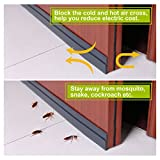 "Draft-Blocking Under Door Silicone Weather Stripping Gap Sealer with Self-Adhesive Backing, 2"" x 39"" Black"