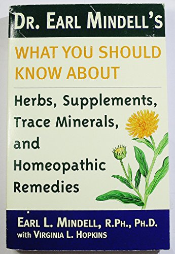 Dr. Earl Mindell's what you should know about herbs, supplements, trace minerals, and homeopathic remedies