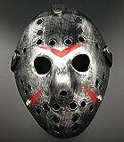 Gmasking Friday The 13th Horror Hockey Jason Vs. Freddy Mask Halloween Costume Prop (Sliver-Black)