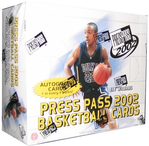 2002 Press Pass Basketball Cards Hobby Box