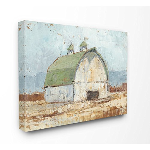 The Stupell Home Decor Collection Natural Earth Painted Barn Stretched Canvas Wall Art, 30x40, Multicolor