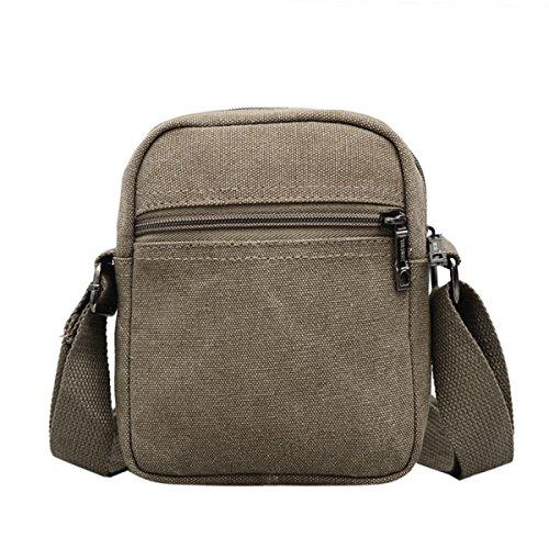 Männer Vintage-Leinwand Messenger Aktentasche Schulter Tote Schule Reisen Tasche,A-9cm*7cm*14cm