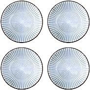Cabilock 4pcs Ceramics Seasoning Dishes Dripping Bowls Tea Bag Holders 4 Inch Ketchup Saucer Small Appetizer P