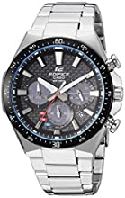 Casio Men's Edifice Quartz Watch with Stainless-Steel Strap, Silver, 20 (Model: EQS-800CDB-1AVCF)