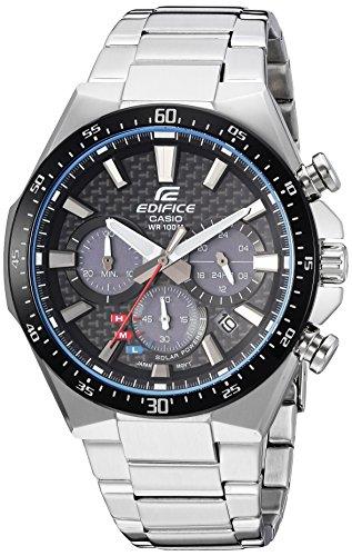 Casio Men's Edifice Quartz Watch with Stainless-Steel Strap, Silver, 20 (Model: EQS-800CDB-1AVCF) (Edifices Casio)