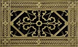 Decorative Grille, Vent Cover, or Return Register. Made of Urethane Resin to fit over a 4''x8'' duct or opening. Total size of vent is 6''x10''x3/8'', for wall and ceiling grilles (not for floor use).