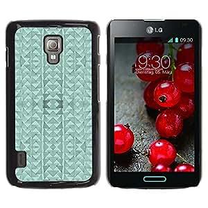 For LG Optimus L7 II P710 / L7X P714 Case , Triangle Modern Abstract Art - Diseño Patrón Teléfono Caso Cubierta Case Bumper Duro Protección Case Cover Funda