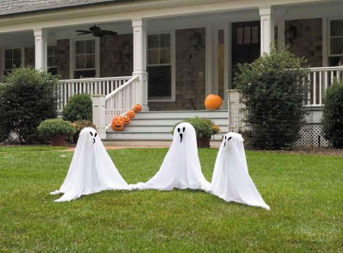 Small Light-Up Ghostly Group (Halloween Ghost Decorations Outside)