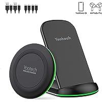yootech Cargador Inalámbrico, [2 Paquetes] 7.5W Qi Cargador Inducción Rápido para iPhone 11/11 Pro/11 Pro MAX/XS MAX/XR/XS/X/8/8+, 10W para Galaxy S10/10+/10e/S9/ S9+/S8, AirPods Pro (NO Adaptador)