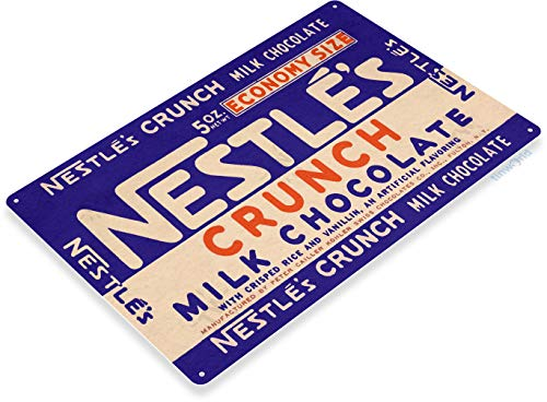 Tinworld TIN Sign C418 Nestle.S Crunch Chocolate Candy Bar Kitchen Cottage Store Sign